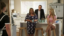 Harlow Robinson, Terese Willis, Paul Robinson, Roxy Willis in Neighbours Episode 8508