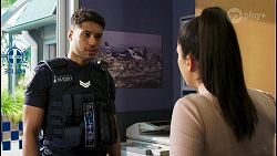 Levi Canning, Yashvi Rebecchi in Neighbours Episode 8508