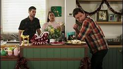 Ned Willis, Yashvi Rebecchi, Shane Rebecchi in Neighbours Episode 8509
