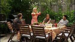 Ned Willis, Roxy Willis, Bea Nilsson, Levi Canning in Neighbours Episode 8509
