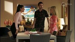 Yashvi Rebecchi, Ned Willis, Roxy Willis in Neighbours Episode 8509