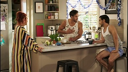Nicolette Stone, Aaron Brennan, David Tanaka in Neighbours Episode 8510