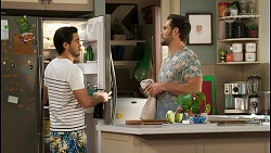 David Tanaka, Aaron Brennan in Neighbours Episode 8510