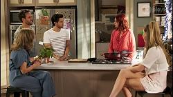 Jane Harris, Aaron Brennan, David Tanaka, Nicolette Stone, Chloe Brennan in Neighbours Episode 8511