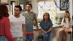 Nicolette Stone, David Tanaka, Aaron Brennan, Jane Harris, Chloe Brennan in Neighbours Episode 8511