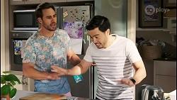 Aaron Brennan, David Tanaka in Neighbours Episode 8511