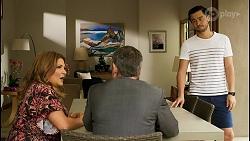 Terese Willis, Paul Robinson, David Tanaka in Neighbours Episode 8511