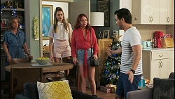 Jane Harris, Chloe Brennan, Nicolette Stone, David Tanaka in Neighbours Episode 8511