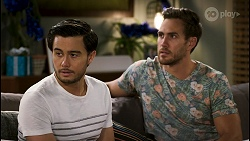 David Tanaka, Aaron Brennan in Neighbours Episode 8511