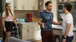 Chloe Brennan, Aaron Brennan, David Tanaka in Neighbours Episode 8512