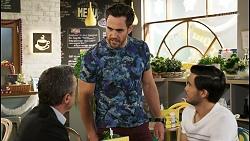 Paul Robinson, Aaron Brennan, David Tanaka in Neighbours Episode 8512