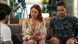 David Tanaka, Nicolette Stone, Aaron Brennan in Neighbours Episode 8512