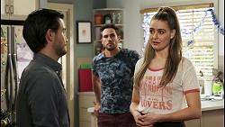 David Tanaka, Aaron Brennan, Chloe Brennan in Neighbours Episode 8512