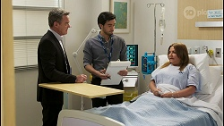 Paul Robinson, David Tanaka, Terese Willis in Neighbours Episode 8513