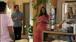 Jay Rebecchi, Shane Rebecchi, Dipi Rebecchi, Mackenzie Hargreaves in Neighbours Episode 8513