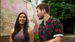Yashvi Rebecchi, Sonya Rebecchi, Ned Willis in Neighbours Episode 8514