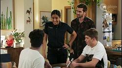 Jay Rebecchi, Yashvi Rebecchi, Ned Willis, Hendrix Greyson in Neighbours Episode 8514