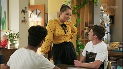Jay Rebecchi, Harlow Robinson, Hendrix Greyson in Neighbours Episode 8514
