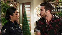 Yashvi Rebecchi, Ned Willis in Neighbours Episode 8514