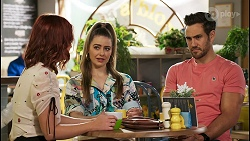 Nicolette Stone, Chloe Brennan, Aaron Brennan in Neighbours Episode 8515