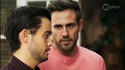 David Tanaka, Aaron Brennan in Neighbours Episode 8515