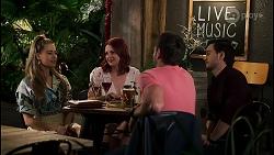 Chloe Brennan, Nicolette Stone, Aaron Brennan, David Tanaka in Neighbours Episode 8515