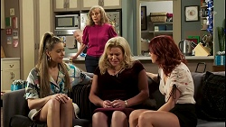Chloe Brennan, Clive Gibbons, Jane Harris, Sheila Canning, Nicolette Stone in Neighbours Episode 8516