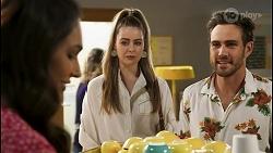 Dipi Rebecchi, Chloe Brennan, Aaron Brennan in Neighbours Episode 8516