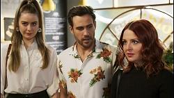 Chloe Brennan, Aaron Brennan, Nicolette Stone in Neighbours Episode 8516