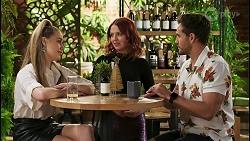 Chloe Brennan, Nicolette Stone, Aaron Brennan in Neighbours Episode 8517