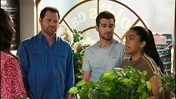 Dipi Rebecchi, Shane Rebecchi, Ned Willis, Yashvi Rebecchi in Neighbours Episode 8517