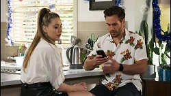 Chloe Brennan, Aaron Brennan in Neighbours Episode 8517