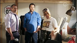 Toadie Rebecchi, Shane Rebecchi, Amy Greenwood, Ned Willis in Neighbours Episode 8517