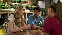 Mackenzie Hargreaves, Jay Rebecchi, Harlow Robinson in Neighbours Episode 8518