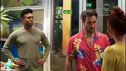 Kane Jones, Aaron Brennan, Nicolette Stone in Neighbours Episode 8520