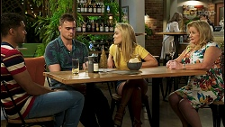 Levi Canning, Kyle Canning, Roxy Willis, Sheila Canning in Neighbours Episode 8520