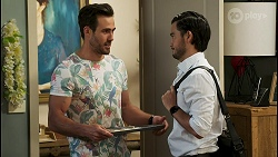 Aaron Brennan, David Tanaka in Neighbours Episode 8521