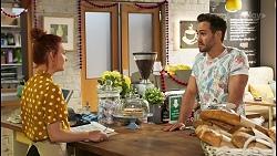 Nicolette Stone, Aaron Brennan in Neighbours Episode 8521