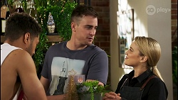 Levi Canning, Kyle Canning, Roxy Willis in Neighbours Episode 8521