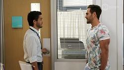 David Tanaka, Aaron Brennan in Neighbours Episode 8521