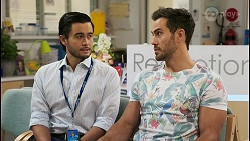 David Tanaka, Aaron Brennan in Neighbours Episode 8521