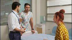 David Tanaka, Aaron Brennan, Nicolette Stone in Neighbours Episode 8522