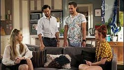 Chloe Brennan, David Tanaka, Aaron Brennan, Nicolette Stone in Neighbours Episode 8522