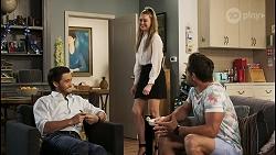 David Tanaka, Chloe Brennan, Aaron Brennan in Neighbours Episode 8522