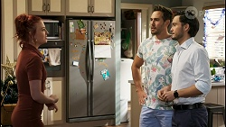 Nicolette Stone, Aaron Brennan, David Tanaka in Neighbours Episode 8522