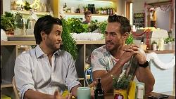 David Tanaka, Aaron Brennan in Neighbours Episode 8522
