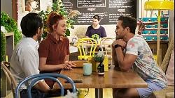 David Tanaka, Nicolette Stone, Aaron Brennan in Neighbours Episode 8522