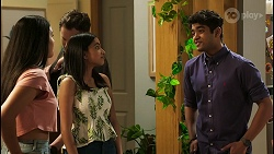 Yashvi Rebecchi, Shane Rebecchi, Kirsha Rebecchi, Jay Rebecchi in Neighbours Episode 8523