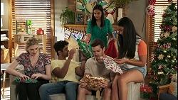 Mackenzie Hargreaves, Jay Rebecchi, Kirsha Rebecchi, Ned Willis, Yashvi Rebecchi in Neighbours Episode 8523