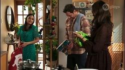 Kirsha Rebecchi, Shane Rebecchi, Dipi Rebecchi in Neighbours Episode 8523